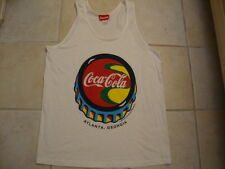 Vintage 90's COCA COLA 1995 Atlanta soda pop White TANK TOP T Shirt Adult size L