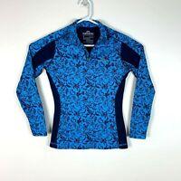 Kathmandu ThermaPLUS Blue Floral Premium Ladies Top Size 8