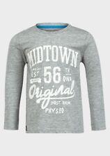 NEW Minoti Boys Cloud Grey Urban Long Sleeved T-Shirt - Age 10-11 Years