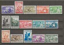 """LUXEMBOURG 1935 """"Intellectuals"""" SG 324/38 MNH Cat £750"""