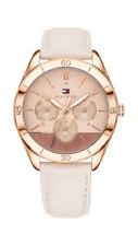 TOMMY HILFIGER Reloj de mujer 1781887 Análogo Multi Función Cuero Rosa