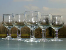 Service de 6 verres de bistrot en verre soufflé. XIXe s. Haut. 13,8 cm