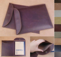 file pocket cow Leather Messenger bag Briefcase laptop Pouch handmade brown A626