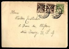 ROMERSTADT SEP 1922 CANCELS ON COVER WITH PAIR TO CLIFTON NJ USA
