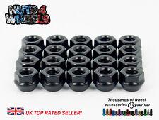 Open END bloccaggio dadi delle ruote in acciaio nero M12 x1.25 per Suzuki Baleno Vitara