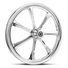"DNA ""CRYSTAL"" CHROME FORGED BILLET 30""X 4"" FRONT WHEEL HARLEY CUSTOM"