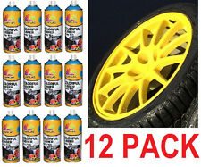 12 PACK - New YELLOW Plasti Dip 13.5 oz Spray Can Rubber coating Removable Paint