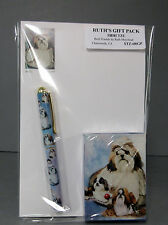 New Shih Tzu Dog Playing Card Pen & Note Pad Set By Ruth Maystead Dogs Shihtzu