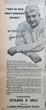 1946 newspaper ad for Minneapolis Dairies - Lynn Waldorf Northwestern Coach