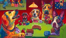 """16x24""""Dogs Playing Poker Oil Painting HD Print On Canvas Wall Art/No Frame"""