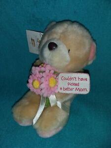 "Vintage HALLMARK Andrew Brownsword Forever Friends 8"" Plush Bear w Flowers,RARE"