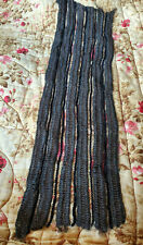 Antique Vintage Horsehair Silk Chenille lace trim 9x30 Black Brown Victorian