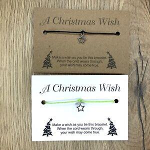 Christmas Wish Bracelet * Friendship * Gift * Wholesale * Bulk *Job Lot *quality