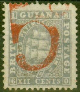 Britisch Guayana 1860 5d IN Rot Auf 12c Lila Versand Zahlbar Von Colony To Great