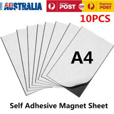 10x A4 Magnetic Magnet Sheets Adhesive Front School Wedding Office 1mm AU Stock