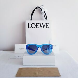 """AUTHENTIC -""""LOEWE""""- WOMEN'S - TWO TONE BLUE - SUNGLASSES - M: SLW 779N - AS NEW!"""