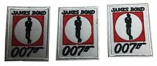 James Bond 007 Embroidered Iron On Patch Set of 3 Patches