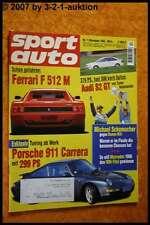 Sport Auto 11/94 Ferrari 512 Audi S2 GT Porsche Carrera