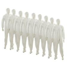 """10 Disposable Paper Suit Protective Overall Coveralls XXL 146cm 58"""""""