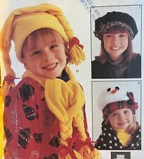 1996 'MC CALL'S' FASHION ACCESSORIES HATS/SCARF PATTERN 8513 KIDS ONE SIZE
