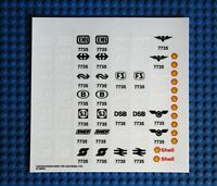 Ersatz Aufkleber/Sticker Set für LEGO Modell 7735 Freight Train Eisenbahn Lok