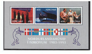 FAROE ISLANDS SC.249a 1993 NORDIC HOUSE ENTERTAINERS S/S MNH BLKPG4