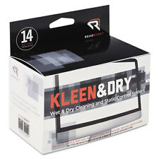 Read Right Two Step Screen Kleen Wet and Dry Cleaning Wipes 5 x 5 14/Box RR