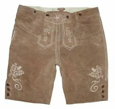 getragene kurze Herren- Trachten- LEDERHOSE / Trachtenhose in beige ca.Gr. 54/56