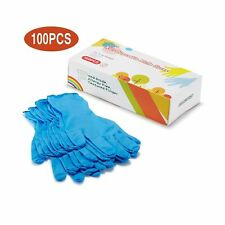 Kids Disposable Nitrile Gloves for 7-14 Years - Latex Free, Food Grade, Powde...