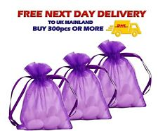 PURPLE ORGANZA BAGS Jewellery Candy Gift Xmas  Party Wedding Favour Luxury Pouch