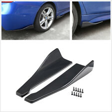 2x Glossy Carbon Fiber Color Car Bumper Spoiler Rear Lip Angle Splitter Diffuser