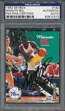 1992/93 Skybox #180 Manute Bol PSA/DNA Certified Authentic Auto Autograph *2373