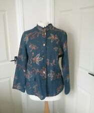 INDIGO MOON BLUE  JACKET WITH EMBROIDERY  SIZE 10