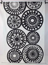 TAIKAMYLLY ANNA ANNUKKA Cotton Black White Tapestry Flag Banner Marimekko Fabric