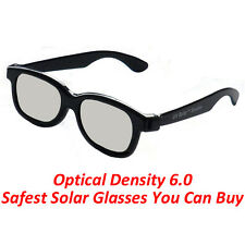 Plastic Solar Eclipse Viewing Glasses (50 PACK) USA 2017 CE APPROVED DARK LENS