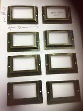 8x Plan Chest LRG  Label Holder Vintage Metal Haberdashery Drawer Card Frames