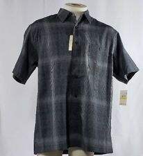 Haggar Shirt Men's Black Size M Button Down Short Sleeve Easy Care New