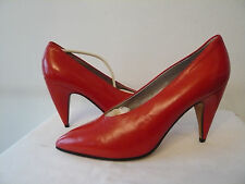 """Escarpins Haut de gamme --  Cuir """"Rouge""""   --  I.BOSSI  --  T. 40"""