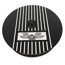 """Ford FE 427 American Eagle 13"""" Round Air Cleaner Kit Black - Ansen USA"""