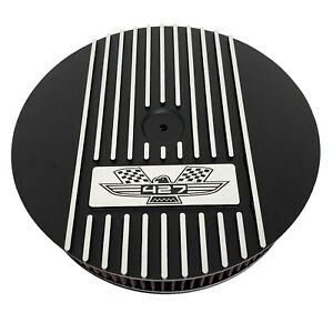 "Ford FE 427 American Eagle 13"" Round Air Cleaner Kit Black - Ansen USA"