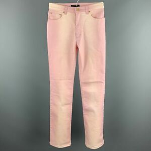 ROBERTO CAVALLI Size XS Pink Ombre Cotton Blend Zip Up Jeans