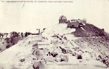 NEAR SAN JOSE, CA LICK OBSERVATORY IN WINTER MT. HAMILTON 1910