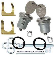 Chevy Nova Corvair 67-79 Door Lock Key Cylinder Pair Tumbler Barrel 2 Keys