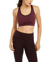 Calvin Klein 247205 Womens Medium-Impact Sports Bra Purple Size Medium