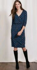 BODEN Cressida jersey dress size 12R --BRAND NEW- knee length 3/4sleeves pockets