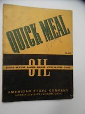 Vintage Lorain Quick Meal Oil Stove Range Cooker Catalog American Stove Co. Ohio