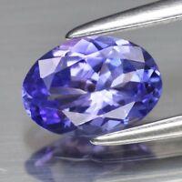 0.63ct 6.7x4.8mm VVS Oval Natural Violet Blue Tanzanite, Tanzania