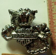 Vintage Harley Panther pin HD motorcycle collectible old biker vest memorabilia
