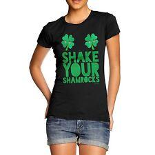 Twisted Envy Shake Your Shamrocks Women's Black T-shirt X-large