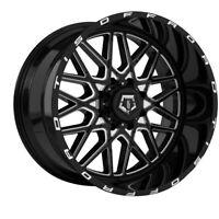 "4-TIS 548BM 20x12 6x135/6x5.5"" -44mm Black/Machined Wheels Rims 20"" Inch"